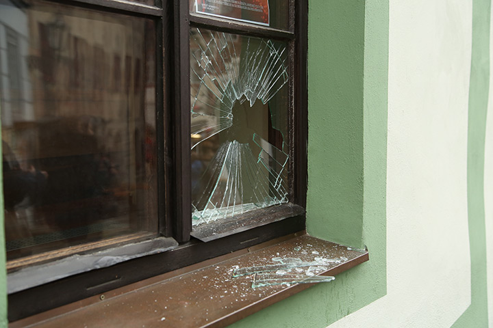 A2B Glass are able to board up broken windows while they are being repaired in Clapham.